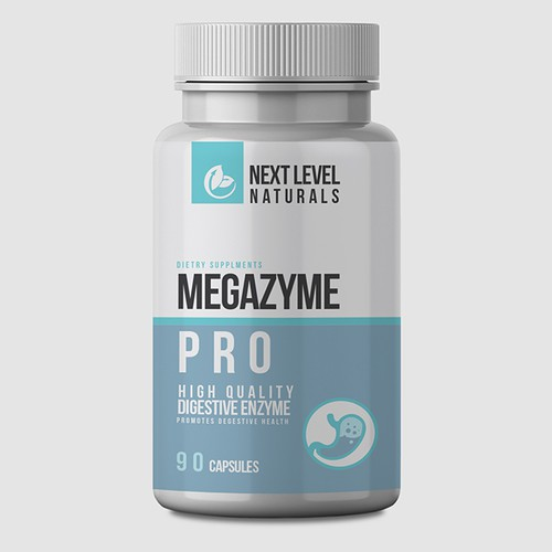 Nutritional supplement packaging with the title 'Next level naturals supplement label'