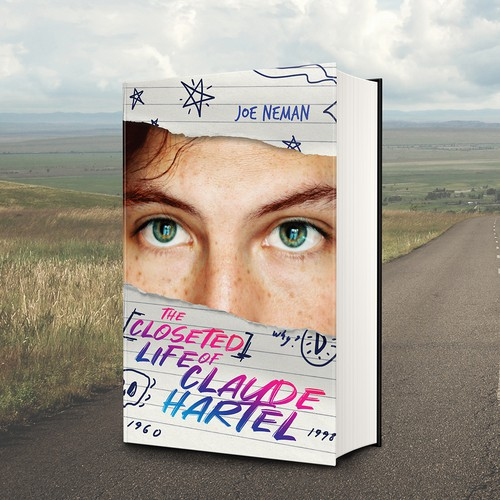 Boy book cover with the title 'Book cover for a Young Adult Lgbt Novel'