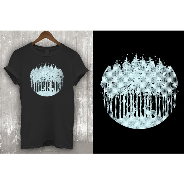 Nature t-shirt with the title ' Ecoholic Threads Project'