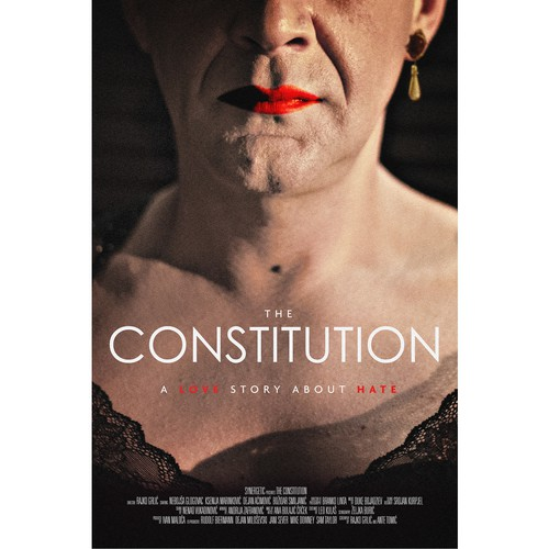 Film design with the title 'Movie poster for The Constitution'