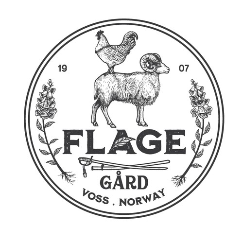 Barbarian logo with the title 'logo for Flage Gard'