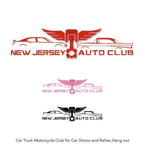 Metallic brand with the title 'New jersey auto club'