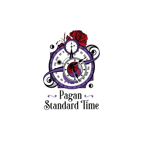 Delicate logo with the title 'Logo for a pagan social media community'