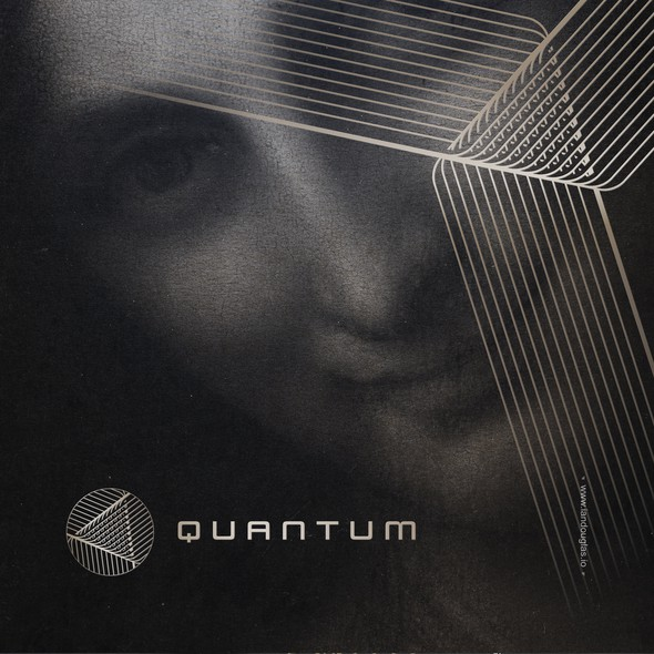 Dimensional design with the title 'Geometric, dimensional mark for Quantum Inc'