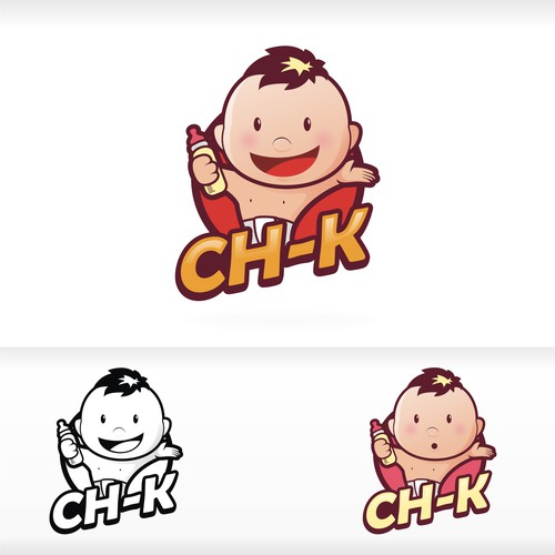 Childish design with the title 'fun baby logo'