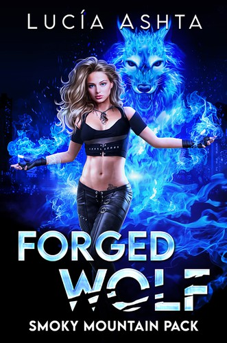 Magical design with the title 'Forged Wolf'