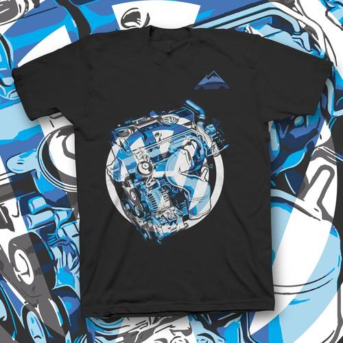 Kickass t-shirt with the title 'T shirt design for car dealer'