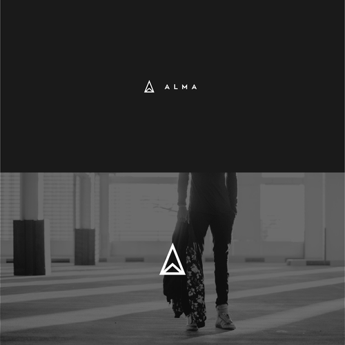 Streetwear logo with the title 'A L M A  Logo Design'