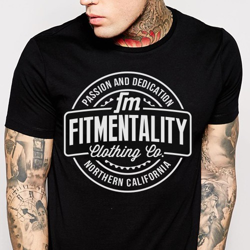 Streetwear t-shirt with the title 'Fitmentality Clothing'