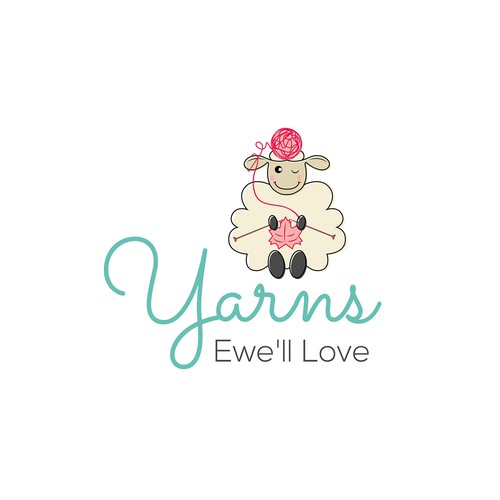 String logo with the title 'Logo Design for a yarns Business'