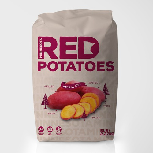 Agriculture packaging with the title 'Packaging design'