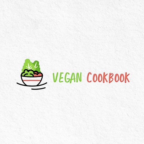 Cooking logo with the title 'Logo for vegan recipes'
