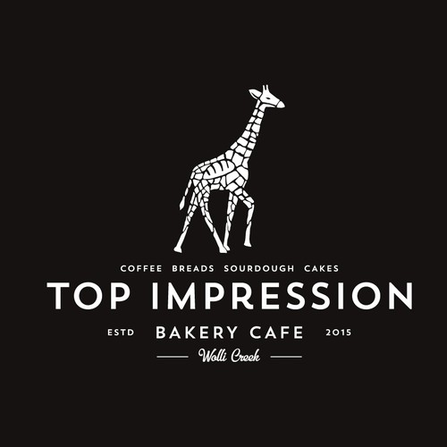 Clever design with the title 'Top Impression bakery cafe'