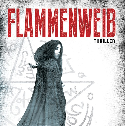Witch design with the title 'Thriller Book Cover'