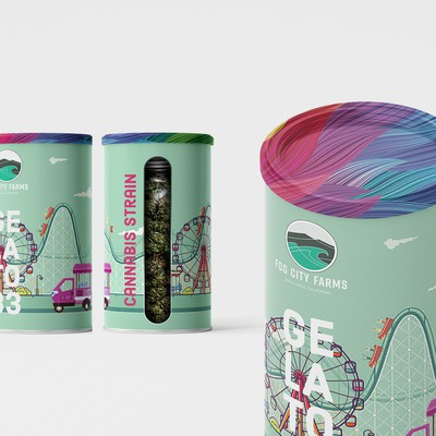 Packaging design for jar with cannabis