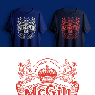 Coat of arms for McGill University Dad and Mom