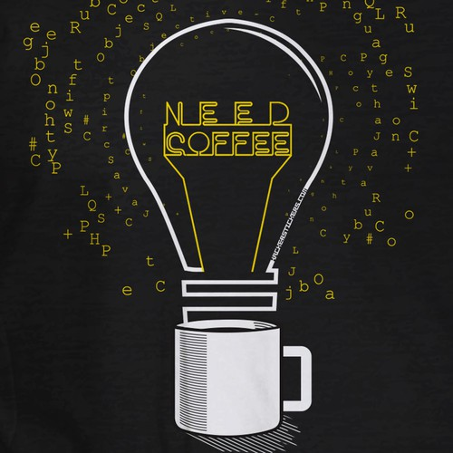 Coffee t-shirt with the title 'Code & Caffeine T-Shirt Design (Programmers Shirt)'