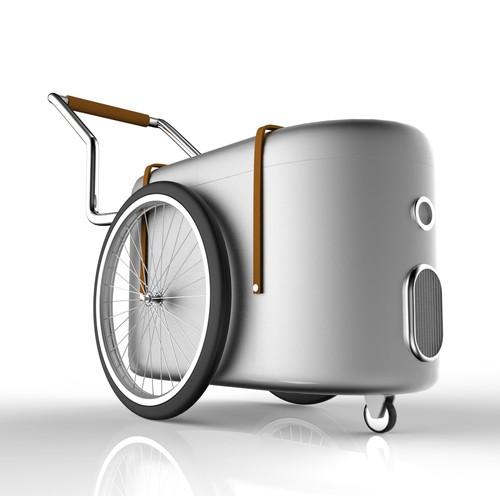 Cart design with the title 'Ice cream cart'