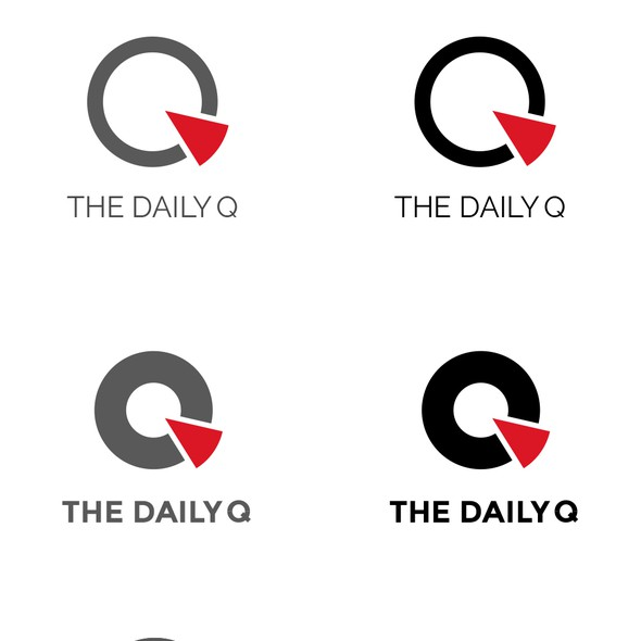 Statistics logo with the title 'Logo concept for The Daily Q'