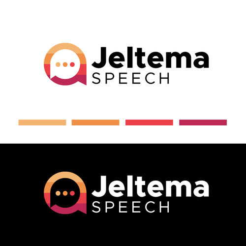 Speech therapy logo with the title 'Jeltema Speech'