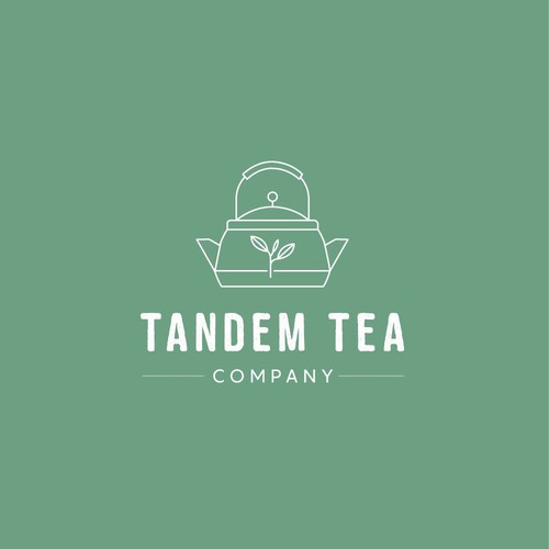 Teapot logo with the title 'TANDEM TEA'