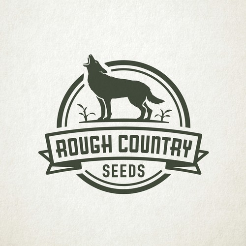 Corn design with the title 'Classic styled logo for a seed company'