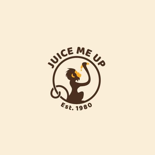 Banana logo with the title 'Juice Bar logo'