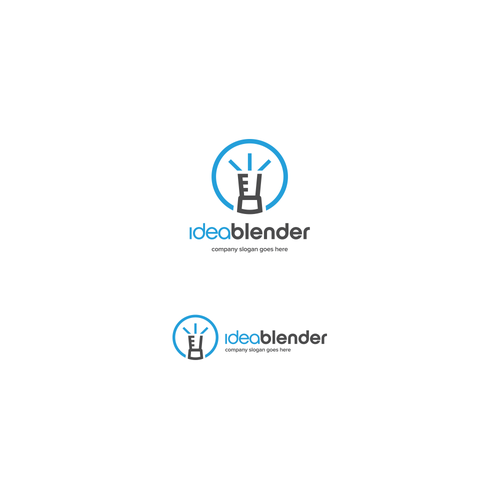 Thinking design with the title 'Idea Blender'