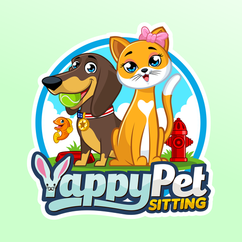 Logo with the title 'Yappy Pet Sitting logo design'