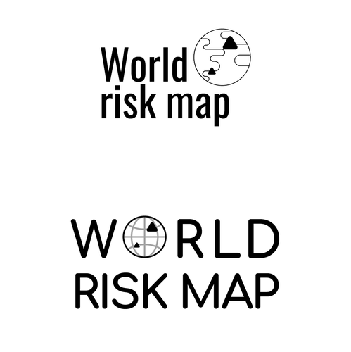 Danger design with the title 'World risk map'