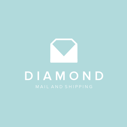 Mail logo with the title 'Diamond Mail and Shipping'