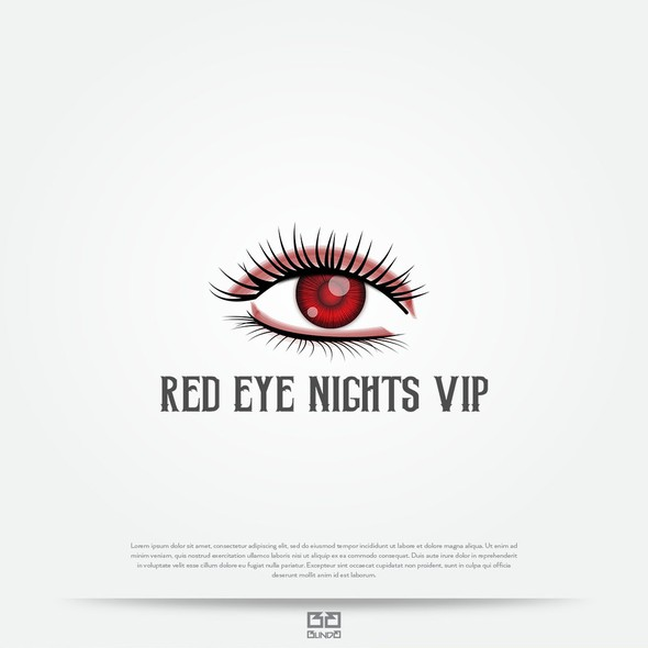 VIP design with the title 'Logo concept for night club'