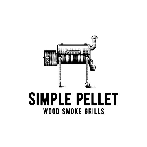 Grill design with the title 'Simple Pellet'