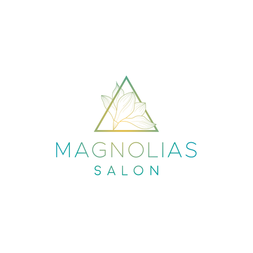 Magnolia design with the title 'Logo for beauty salon'