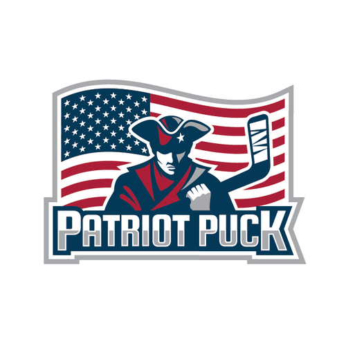 Patriot design with the title 'Patriot Puck'