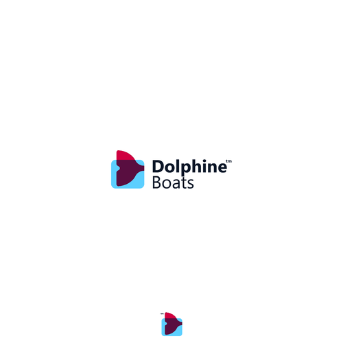 Sailing brand with the title 'Dolphine Boats Logo Proposal 01'