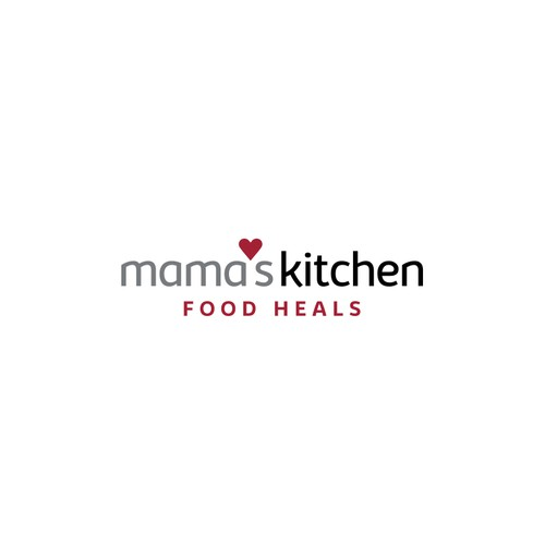 Kitchen design with the title 'Healthy Food Logo'