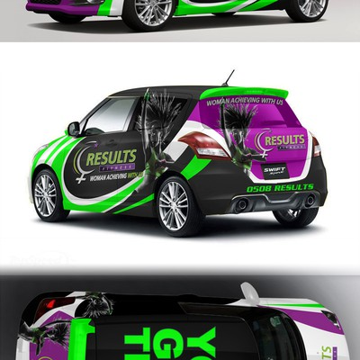 Car wrap for results fitness