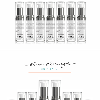 Label design for Erin Denise skin care