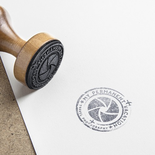 Stamp brand with the title 'Stamp logo for Travel Photography Blog'