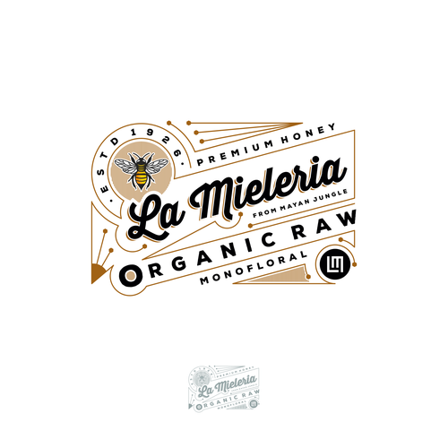Honey brand with the title 'La Mieleria'