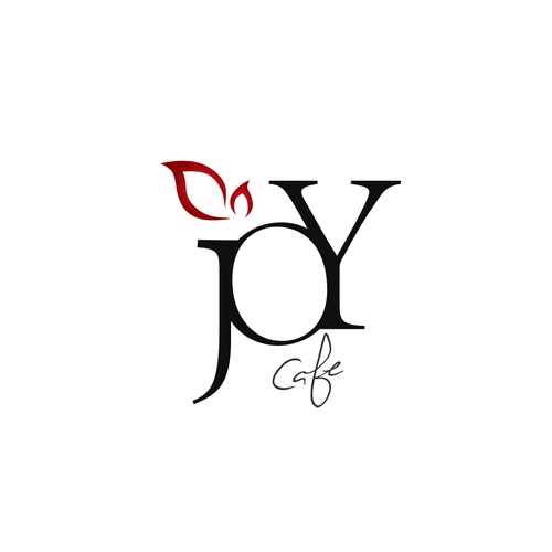 "Joyous logo with the title 'Logo design concept for ""JOY"" cafe & confections '"