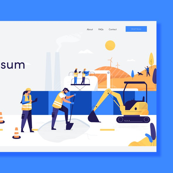 Mobile illustration with the title 'Website Illustration'