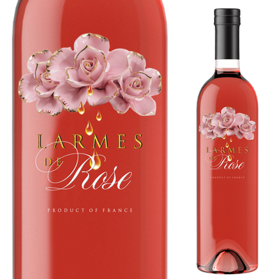 Label for Rose wine