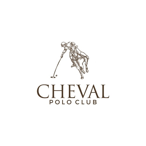 Polo logo with the title 'CHEVAL'