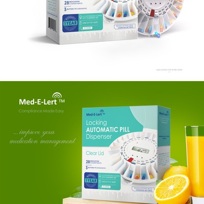 Automatic Pill Dispenser, packaging design