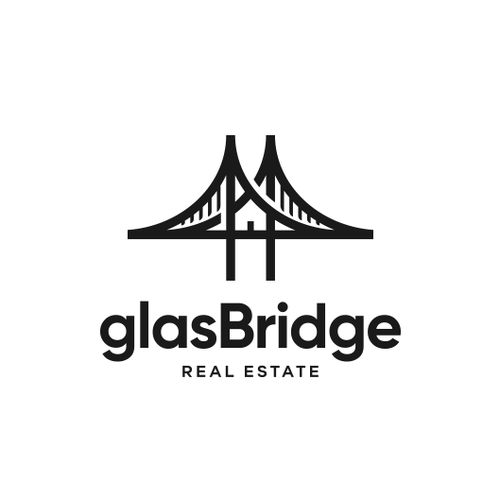 Bridge design with the title 'glasBridge Real Estate'