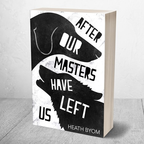 Dog book cover with the title 'Cover for an Animal Themed Book'