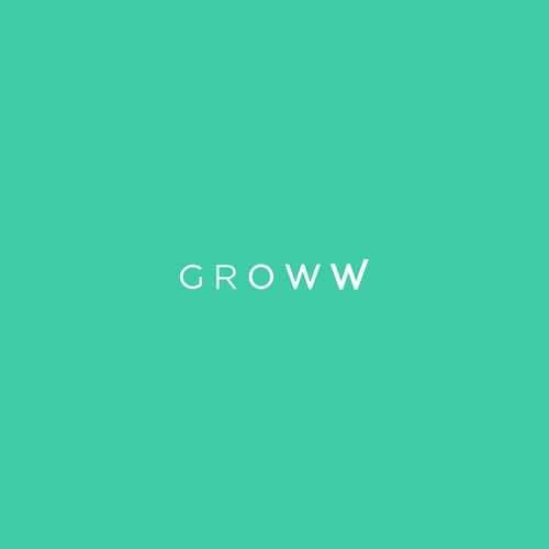 Investment logo with the title 'Logo design for GROWW'