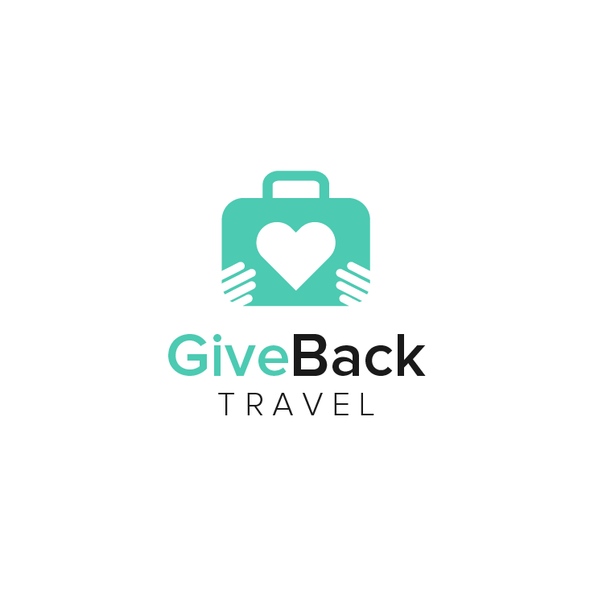 Tosca design with the title 'Give Back Travel'